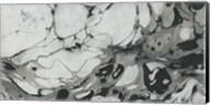 Black and White Marble Panel Trio II Fine-Art Print