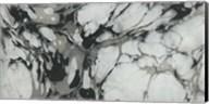 Black and White Marble Panel Trio III Fine-Art Print