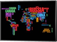 Typography World Map 1 Fine-Art Print