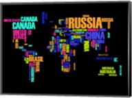 Typography World Map 2 Fine-Art Print