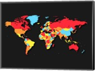 World Map Countries Fine-Art Print