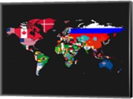 World Map Contry Flags 1 Fine-Art Print