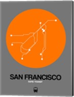 San Francisco Orange Subway Map Fine-Art Print