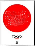Tokyo Red Subway Map Fine-Art Print