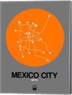 Mexico City Orange Subway Map Fine-Art Print