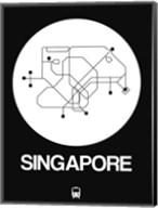 Singapore White Subway Map Fine-Art Print
