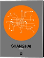 Shanghai Orange Subway Map Fine-Art Print