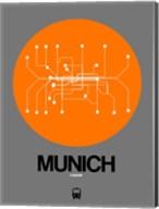Munich Orange Subway Map Fine-Art Print
