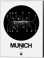 Munich Black Subway Map Fine-Art Print