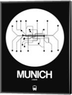 Munich White Subway Map Fine-Art Print