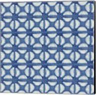 Blue Shibori I (blue coffee bean) Fine-Art Print