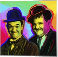 Laurel Hardy Pop Art Fine-Art Print