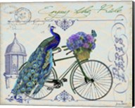 Peacock On Bicylce I Fine-Art Print