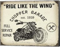 Vintage Motorcycle Mancave - D Fine-Art Print