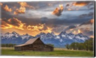Moulton Barn Sunset Fire Fine-Art Print