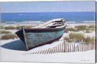 Blue Boat on Beach Fine-Art Print