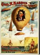 Circus 1882 - Bicycle Parachute Act Fine-Art Print