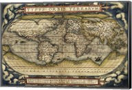 Cosmos-Ortelius World Map 1570 Fine-Art Print