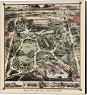 Map Of New York City's Central Park 1860 Fine-Art Print