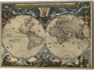 Map of the World by Blaeu 1684 Fine-Art Print