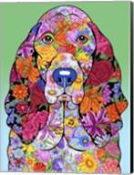 Flowers Basset Hound Fine-Art Print