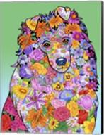 Flowers Shetland Sheepdog Fine-Art Print