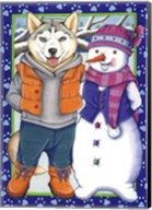 Husky Snowman Fine-Art Print