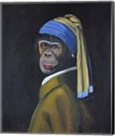 Monkey with Pearl Earring Fine-Art Print