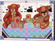 Teddy Bears And Blocks Fine-Art Print