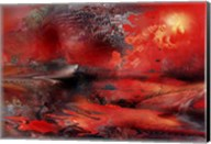 Volcano Planet Red Fine-Art Print