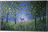 Evening In The Bluebell Wood Fine-Art Print