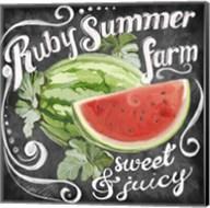 Chalkboard Watermelon Fine-Art Print