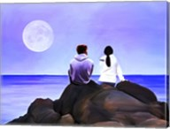 Together Watching The Moon Fine-Art Print