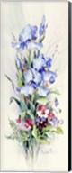 Iris and Pansy Panel Fine-Art Print