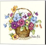 Pansy Basket Miniature Fine-Art Print