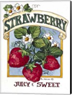 Juicy and Sweet Strawberry-Seed Packet Fine-Art Print