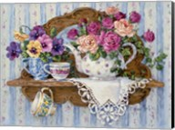 Pansies and Lace Fine-Art Print