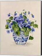 Blue and White Porcelain Violets Fine-Art Print