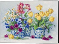 Spring Garden in Blue II Fine-Art Print
