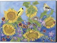 Goldfinches With Sunflowers Fine-Art Print