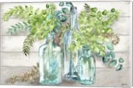 Vintage Bottles and Ferns Landscape Fine-Art Print