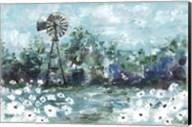 Windmill and Daisies Landscape Fine-Art Print