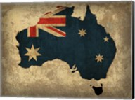 Australia Country Flag Map Fine-Art Print