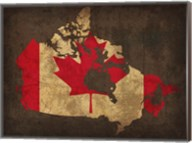 Canada Country Flag Map Fine-Art Print
