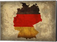 Germany Country Flag Map Fine-Art Print