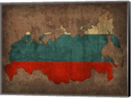 Russia Country Flag Map Fine-Art Print