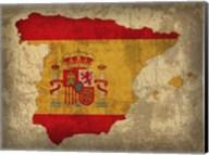 Spain Country Flag Map Fine-Art Print