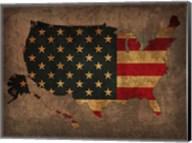 USA Country Flag Map Fine-Art Print