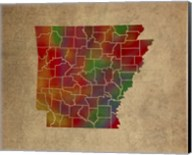 AR Colorful Counties Fine-Art Print