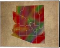 AZ Colorful Counties Fine-Art Print